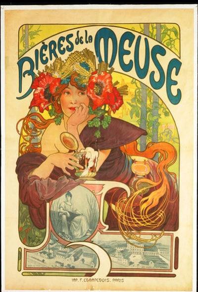 Poster Vintage Bieres de la Meuse