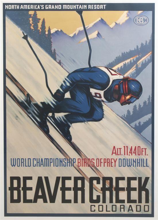 Poster Vintage ski Beaver Creek