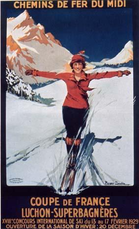 Poster Vintage ski Superbagneres
