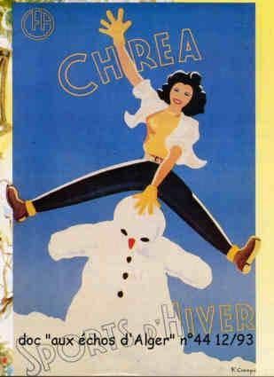 Poster Vintage ski sports d'hiver