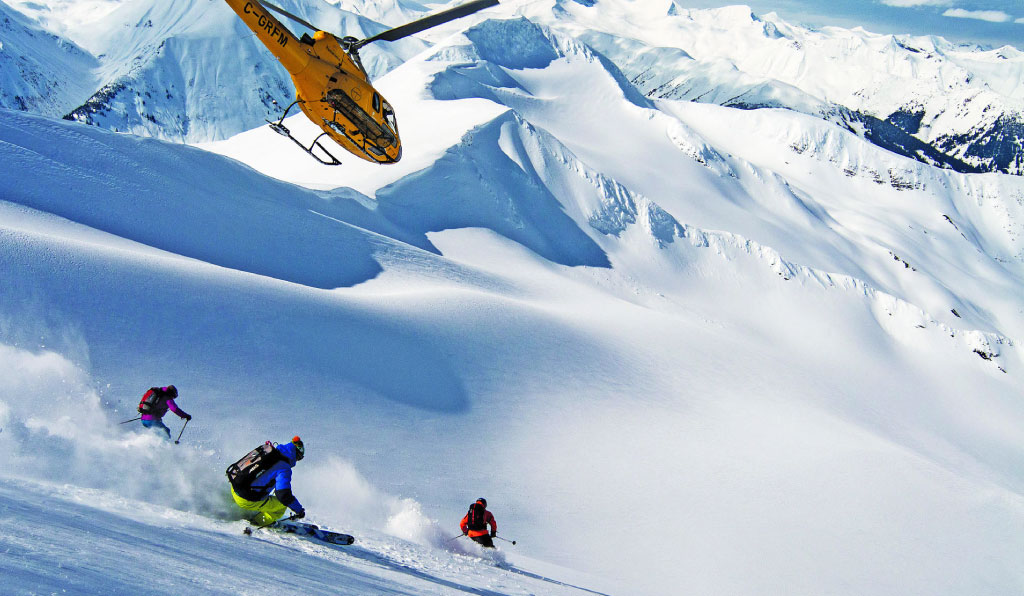 Heliski en Powder Highway