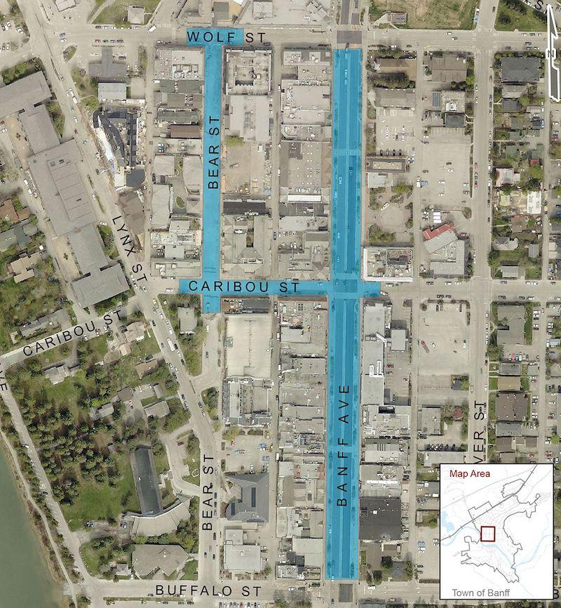Mapa Banff Covid19