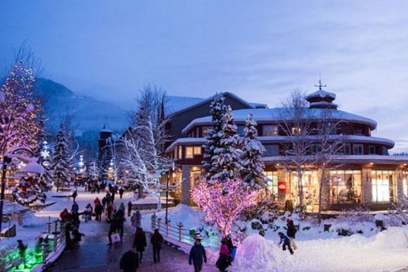 Calles nevadas en Whistler