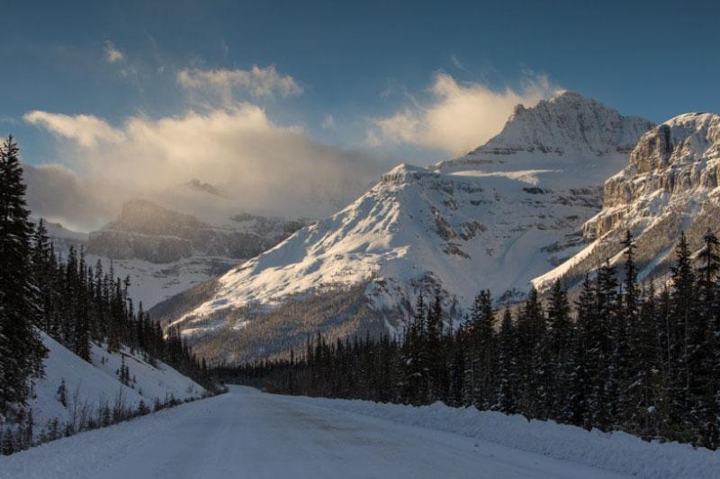Icefield Parkway en invierno